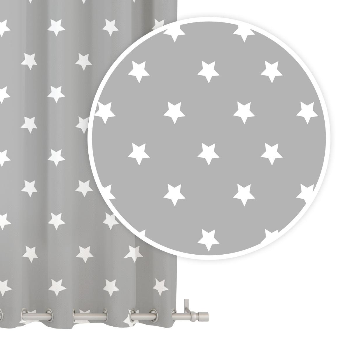 STARS GREY fuggony 1db 140x250 cm