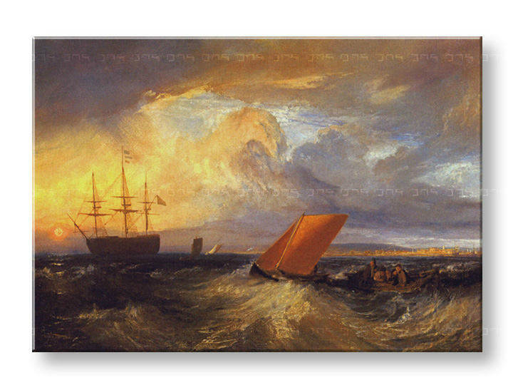 Vászonkép SHEERNESS VISTA DAL NORE - William Turner REP124