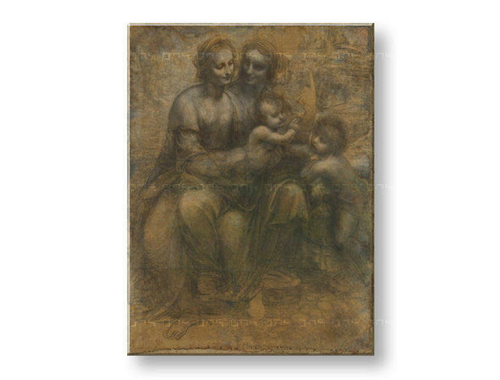 Vászonkép VIRGIN AND CHILD WITH SAINT ANNE- Leonardo da Vinci REP168