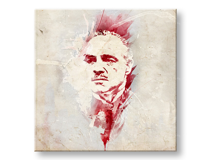 Vászonkép Godfather Marlon Brando - AQUArt / Tom Loris 006AA1